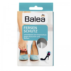 Balea Foot Protection Heel Liners (Protection Gel Pads, Reusable) 1 Pair