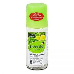 ALVERDE Natural Cosmetics Deodorant Roll-on Organic Mint & Bergamot 50 ml