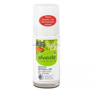 ALVERDE Natural Cosmetics Sensitive Deodorant Roll-On Organic Aloe Vera & Chamomile 50 ml