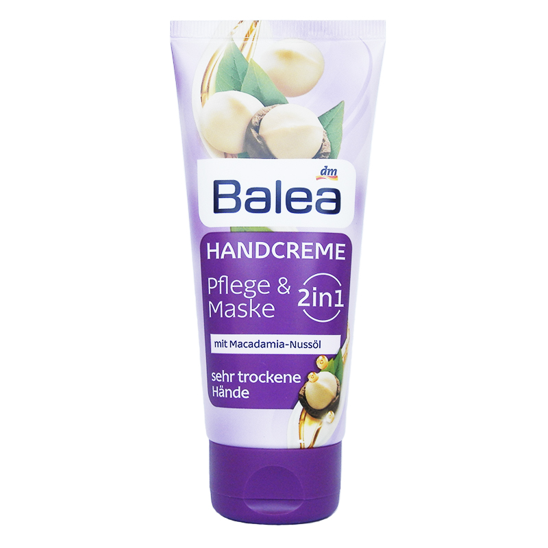 balea hand cream 2 in 1 care mask with macadamia nut oil 100 ml get some beauty. Black Bedroom Furniture Sets. Home Design Ideas