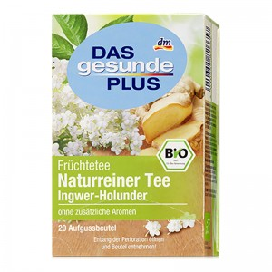 DAS gesunde PLUS Natural Pure Tea Ginger and Elderflower 20 bags