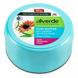 ALVERDE Natural Cosmetics Foot Butter Organic Lime Organic Echinacea 200 ml