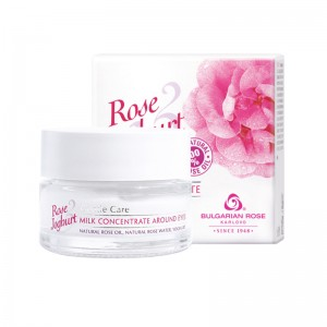ROSE JOGHURT KARLOVO Milk Concentrate Around Eyes With 100% Natural Rose Oil And Rose Water 15 ml