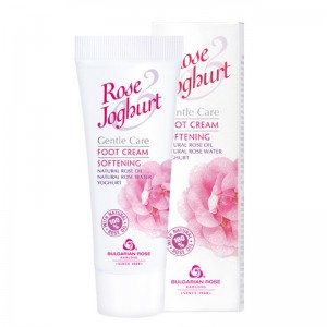 ROSE JOGHURT KARLOVO Softening Foot Cream With 100% Natural Rose Oil And Rose Water 75 ml