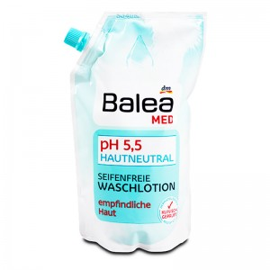 Balea MED pH 5.5 Skin Neutral Soap-Free Wash Lotion Refill 500 ml