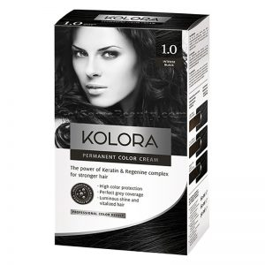 KOLORA Permanent Hair Dye 1.0 Intense Black