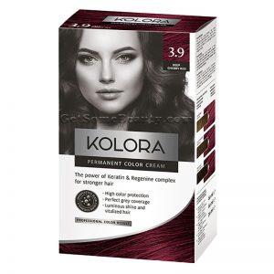 KOLORA Permanent Hair Dye 3.9 Deep Cherry Red
