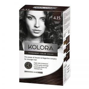 KOLORA Permanent Hair Dye 4.15 Chocolate Brown