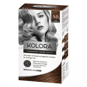 KOLORA Permanent Hair Dye 5.0 Light Mocha Brown