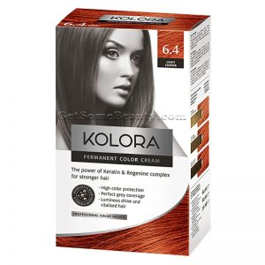 KOLORA Permanent Hair Dye 6.4 Light Copper