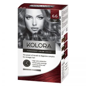 KOLORA Permanent Hair Dye 6.6 Intense Red