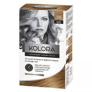 KOLORA Permanent Hair Dye 7.0 Natural Blonde