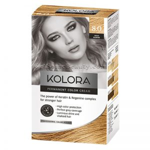 KOLORA Permanent Hair Dye 8.0 Gold Blonde