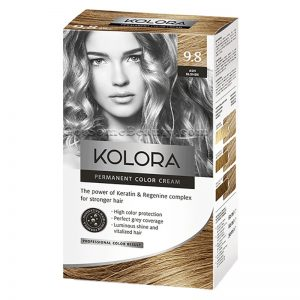 KOLORA Permanent Hair Dye 9.8 Ash Blonde